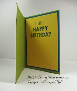 Inside of Birthday Card with Cupcake and Pear Pizazz