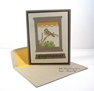 Soft Suede, Early Espresso and Very Vanilla Congratulations Card